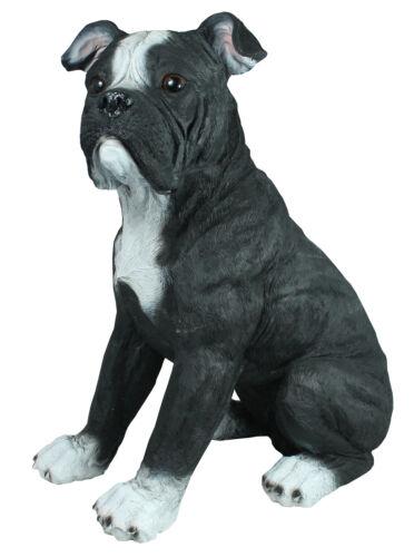 American Bulldog PERSONAGGIO AMERICANO BULLDOG FRANCESE cani personaggio grande scultura da giardino