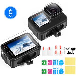 6PCS-Protection-d-039-ecran-verre-trempe-objectif-film-pour-GoPro-Hero-9-Sports-Camera