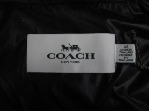 Jacket Icon Hooded Long Nwt Coat Eggplant Puffer F86045 Coach Warm 889532557400 Cw5q50I