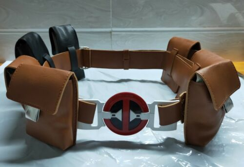 Deadpool 2 Wade Winston Wilson Belt Bag Movie Accessories Cosplay Prop PU Belt