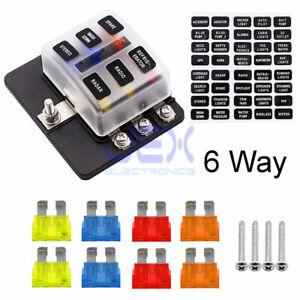 12v 1 x 4 way blade fuse box holder 6 way atc ato blade fuse box holder power block for car rv trailer  atc ato blade fuse box holder power