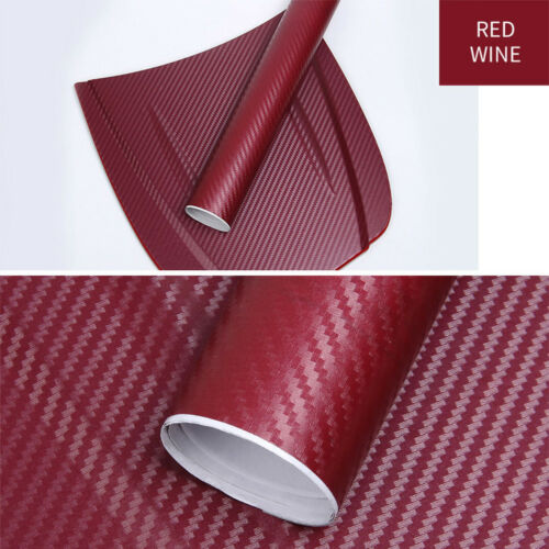 3D Carbon Fiber Vinyl Car Wrap Sheet Roll Film Sticker Decals 127x30cm Dw
