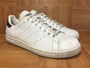 best authentic b269d 955a6 Details about RARE🔥 Adidas Stan Smith II White Leather Navy Sz 10 Men's  Shoes Retro Trainers