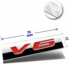 1x 3D Chrome Finish Metal 2.3L Emblem Alloy Badge Sticker Black