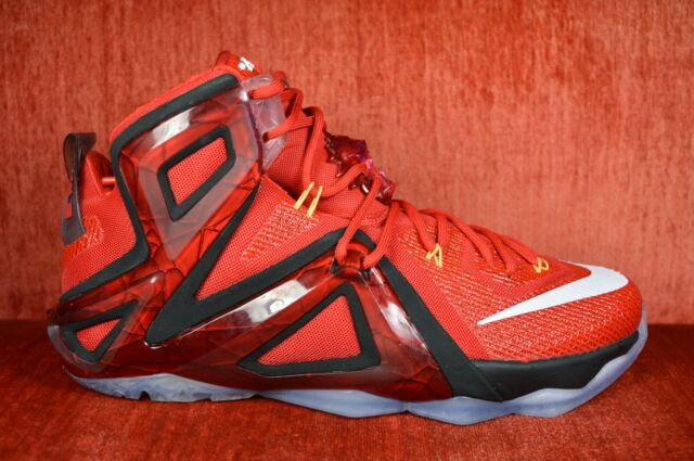 96ce7395b68 Nike Lebron XII Elite Red Bright Citrus DS Size 12 724559-618 ...