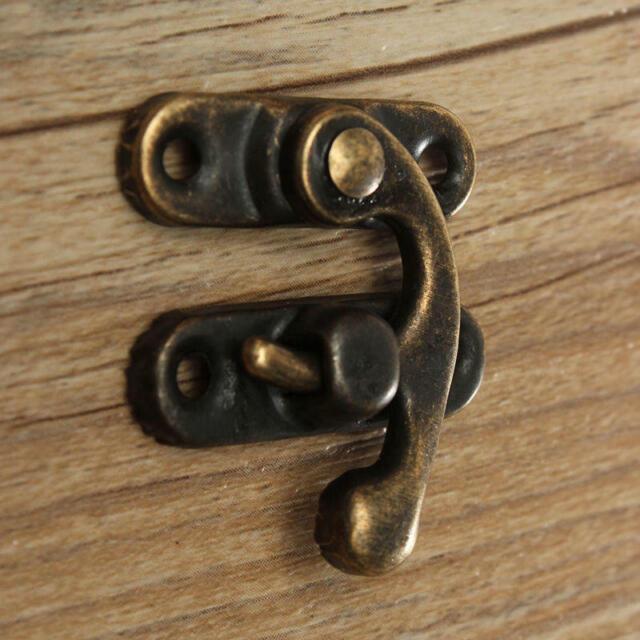 Buckle Jewelry Box Horns Lock Wine Wooden Box Hasp Latch Hook With Screws 12x