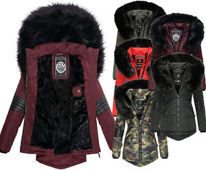 Details zu Navahoo Damen Warm Winter Jacke Parka Winter mantel Teddyfell Steppjacke NIRVANA