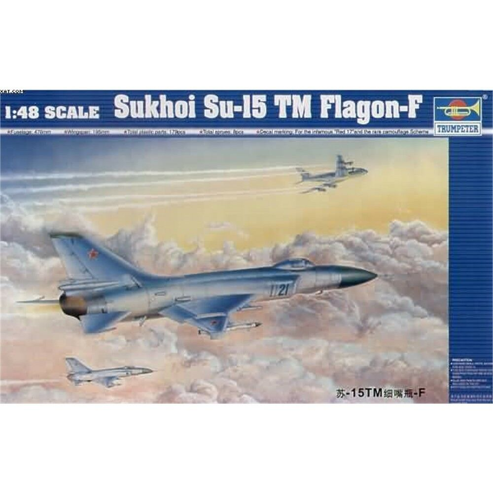 1 48 Trumpeter Sukhoi Su-15 Falgon-f Model Kit. - 148 Tru02811 Su15 Falgonf Kit