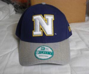 newest e8316 6e41e Image is loading Navy-Midshipmen-NCAA-Heathered-New-Era-9FORTY-Cap-