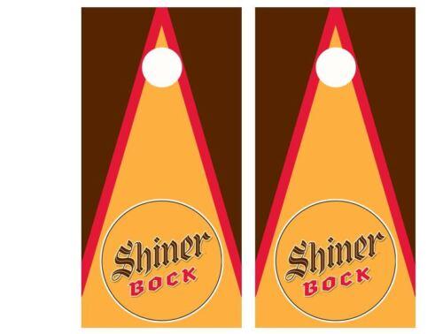 Shiner Bock Beer Cornhole Board Wraps FREE LAMINATION #2444