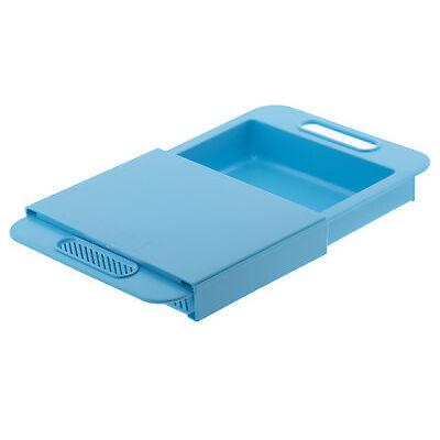 Tagliere da lavandino con cestello per colare tagliare Azzurro plastica rigida