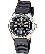 Deep Blue PROTAC 1000m Automatic Diver watch Seiko movt. 45mm Black bezel & dial