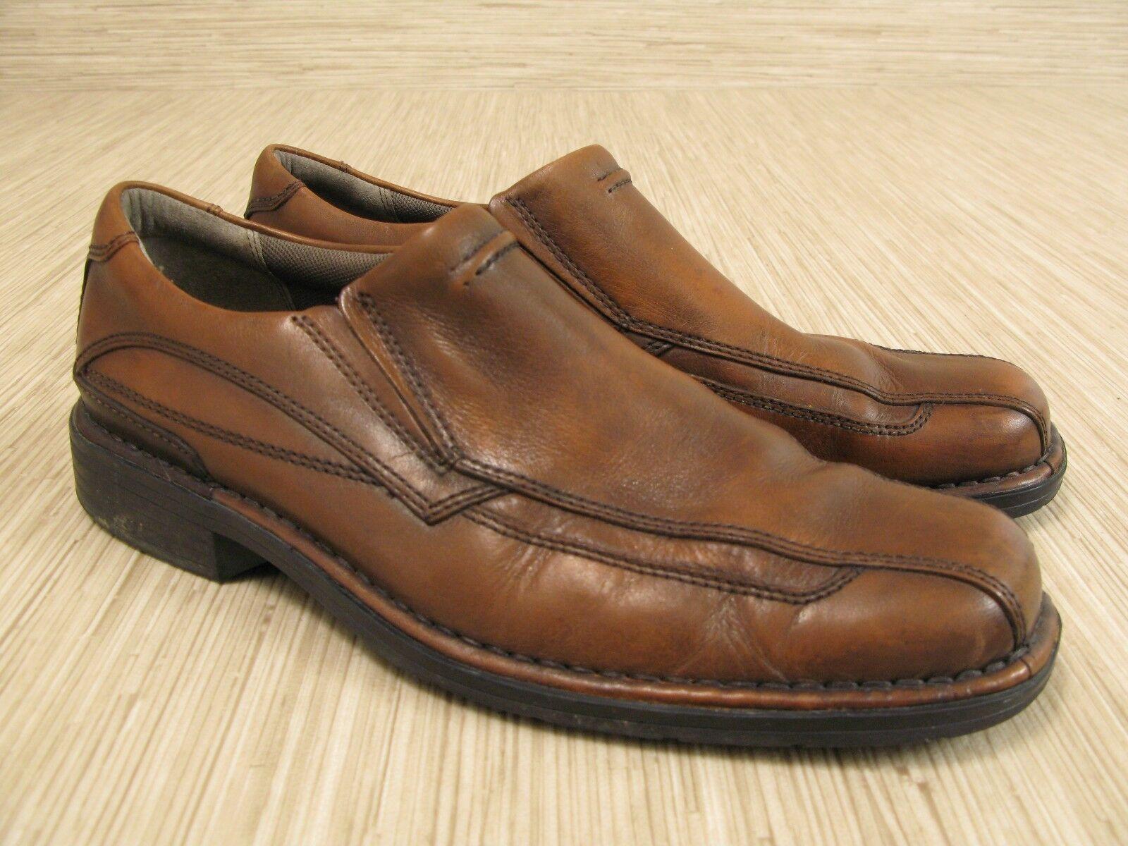 clarks hagen de cuir taille brun taille cuir de mocassins occasionnels de 9  m hommes nous chaussures à enfiler la mule 4813bb c41200dd413c