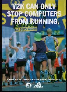 1999 Adidas Boston Marathon Y2k Vintage Running Print Advertisement Ebay