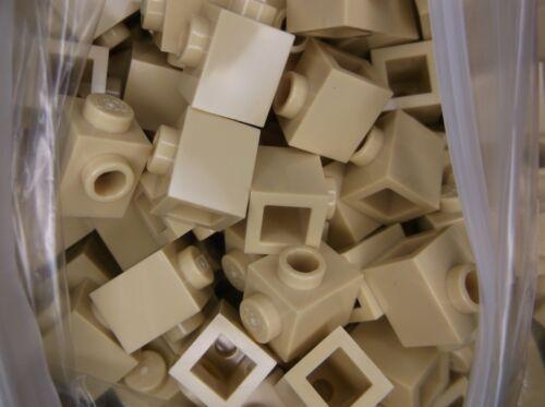 "LEGO x50 Brick Yellow /""Tan/"" Corner 2 Knobs modular NEW 1X1 W 26604//6175968"