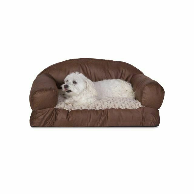 19in Faux Leather Sofa Bed Pet Beds