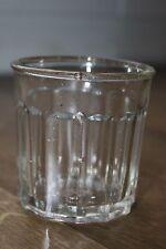Ancien joli pot à confiture - 12 facettes avec bulles d'air (ref 7)