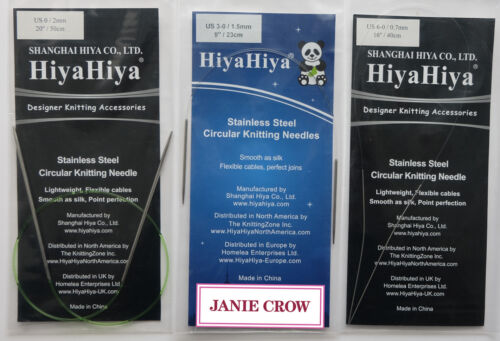 Hiya Hiya Stainless Sharp Fixed Circular Needles 23cm (9in) - 40cm (16in)