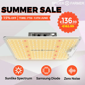 Spider Farmer 1000W LED Grow Light Pflanzenlampe Samsungled LM301 Vollspektrum