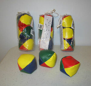 12 MULTI-COLORED JUGGLING BALLS WITH INSTRUCTIONS KIDS BEGGINER JUGGLE BALL KIT