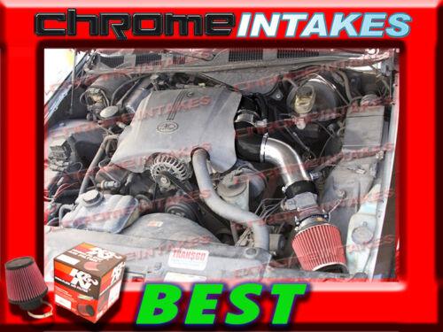 "K/&N+BLACK RED 96-02 CROWN VICTORIA//TOWN CAR//GRAND MARQUIS FULL AIR INTAKE 3.5/"""