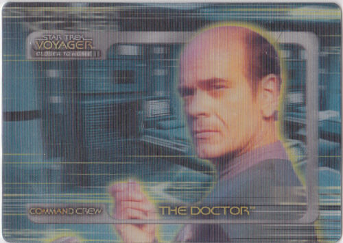 STAR TREK VOYAGER CLOSER TO HOME COMMAND CREW LENTICULAR CC5 THE DOCTOR 623750