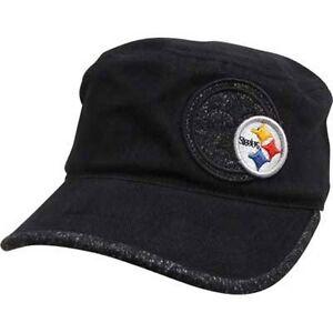 eba0c3ae9 Image is loading Women-039-s-Pittsburgh-Steelers-Military-Style-Hat-