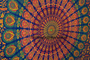 Indian-Mandala-Tapestry-Twin-Bedspread-Hippie-Wall-Hanging-Bohemian-Bed-Cover