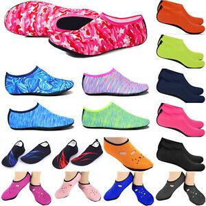 Men-Women-Skin-Water-Shoes-Aqua-Beach-Pool-Yoga-Swim-Surf-Slip-On-Diving-Socks