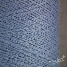 SUPER SOFT SOCK YARN CASHMERE VISCOSE MERINO 2/30s 250g CONE  BALL WEDGWOOD BLUE