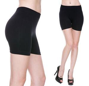 Fitness-Mini-Spandex-Booty-Shorts-Basic-Seamless-Tight-Stretch-Spin-Bike-Workout