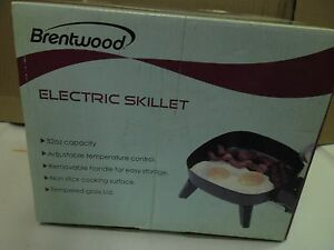new electric skillets 32oz capacity nonstick cooking surface tempered glass