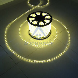 Image Is Loading 200ft Led Rope Lights 110v Indoor Outdoor Waterproof