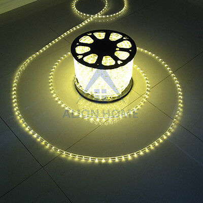 200ft LED Rope Lights 110V Indoor/Outdoor Waterproof Clear Tubing by Alion  Home©   eBay