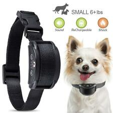 Rechargeable Waterproof Pet Dog No Bark Shock Collar Safe Anti Barking Control