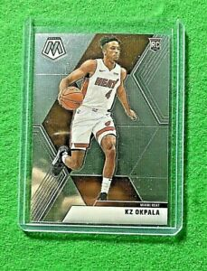 KZ-OKPALA-SILVER-CHROME-ROOKIE-CARD-JERSEY-4-MIAIMI-HEAT-2019-MOSAIC-BASKETBALL
