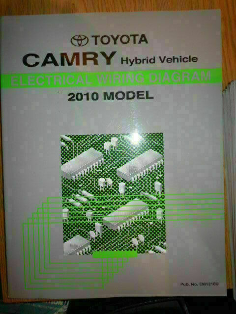 2010 Toyota Camry Hybrid Electrical Wiring Diagram Service Manual  Rx465