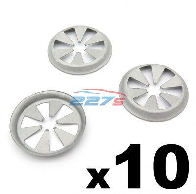 Durable 10x 8mm Plastic Wheel Arch Lining Splashguard Rivet Clip For Honda Civic