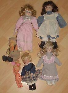 6x Artiste Collection de poupées de collection Résolution de ménage Top Deco Convolute Old