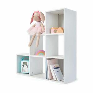 6 Cube Storage Unit Stylish Kids Bedroom Bookshelf Toy Organizer White Shelving Ebay