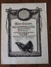 Original Schiess - Urkunde Kriegerverein Marburg an der Lahn / Wenkbach 1932