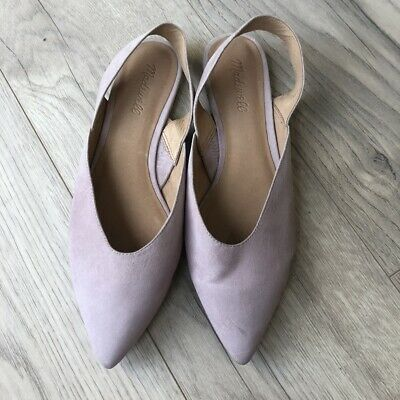 Madewell Pink Suede Leather Pointy Toe