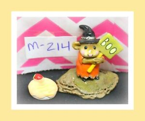Wee-Forest-Folk-M-214-Little-Boo-Boo-Mouse-Halloween-1996-Orange-Witch