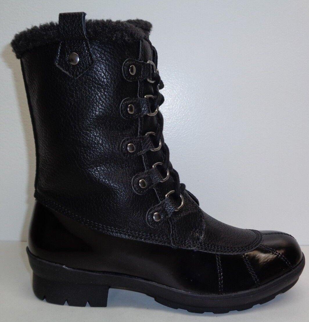 Aerosoles Size 8 M BARRICADE Black Combo 820 Memory Foam Boots New Womens Shoes
