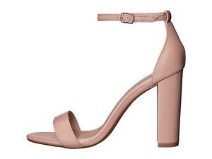 03859a843bf Steve Madden Carrson Blush Leather Women s Open Toe Block Heel ...