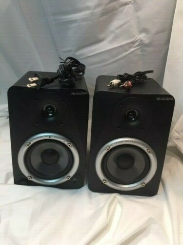 Self Amplified Bookshelf Speakers Desk Powered M-Audio Studiophile DX4