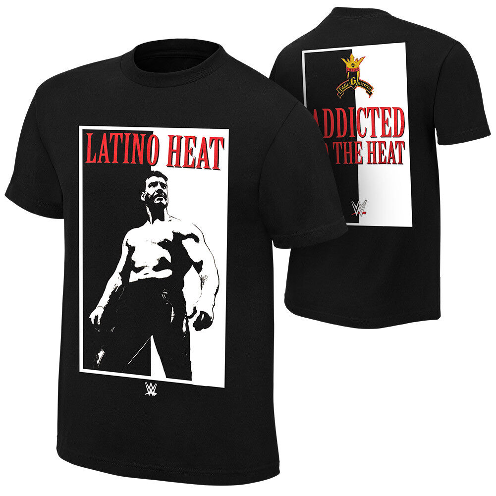 Official WWE - Eddie Guerrero  Addicted to the Heat  Retro T-Shirt