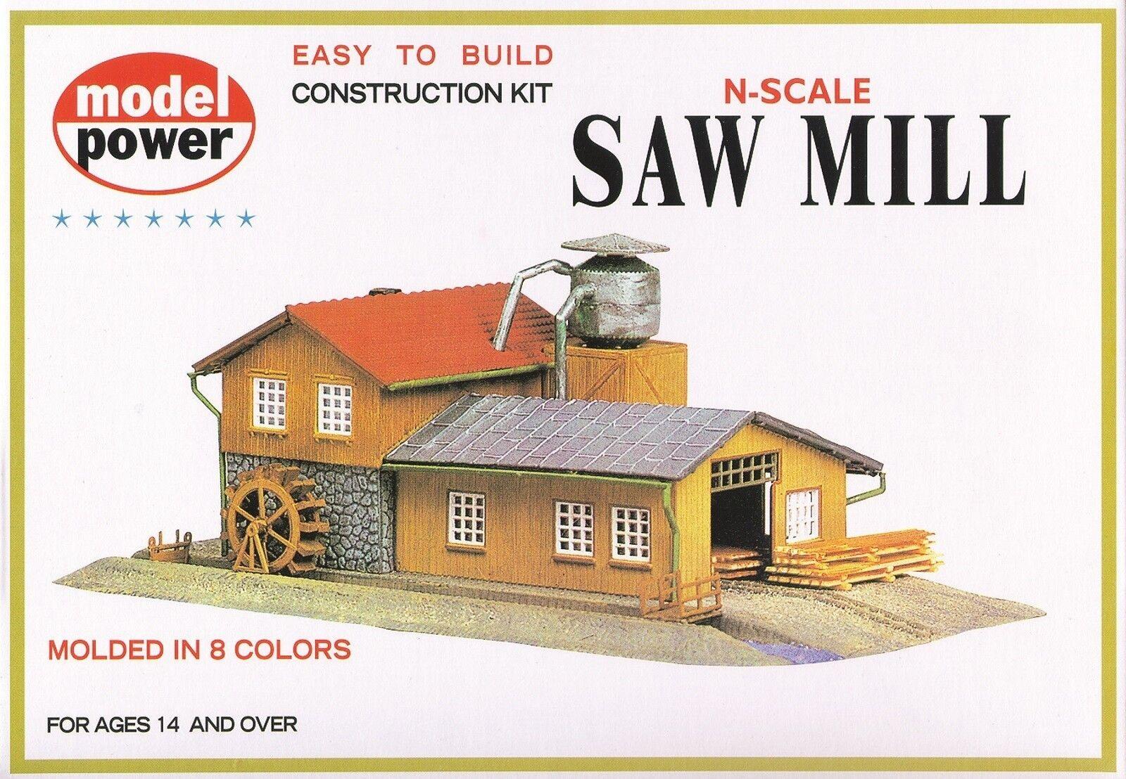 1523 Décor en kit Usine scierie Model Power train N 1 160
