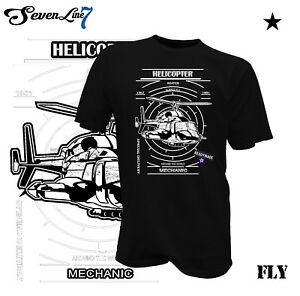 T-Shirt-Helikopter-Hubschrauber-Kult-Retro-Mechanik-034-Arround-The-World-034-RC-Flug