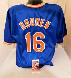 new products 91b63 247b4 Details about DWIGHT DOC GOODEN Signed / Autographed Blue Mets Jersey JSA  COA